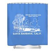 Vintage Santa Barbara Shower Curtain