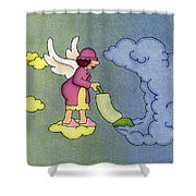 Heavenly Housekeeper Shower Curtain by Sarah Batalka