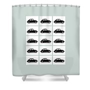 Vw Theory Of Evolution Shower Curtain by Mark Rogan