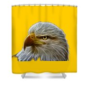 Glowing Eagle Shower Curtain