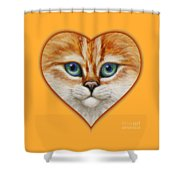 Happy Kitty Shower Curtain