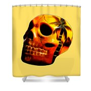 Glowing Skull Shower Curtain