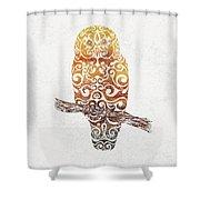 Swirly Owl Shower Curtain