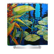 Pond 1 Pond Series Shower Curtain