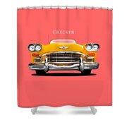 Checker Cab Shower Curtain