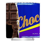 Chocolate Case Shower Curtain