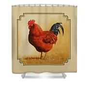 Rhode Island Red Rooster Shower Curtain