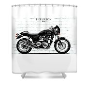 Triumph Thruxton 900 Shower Curtain