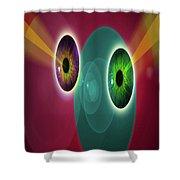 Lens Face Shower Curtain