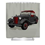 Ride Black Shower Curtain