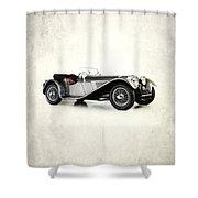 Jaguar Ss100 1936 Shower Curtain by Mark Rogan