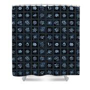 Snowflake Collage - Season 2013 Dark Crystals Shower Curtain
