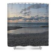 Aruba Beach At Dusk Shower Curtain