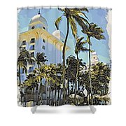 Aruba Palms Two Shower Curtain