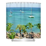 Aruba Shore Shower Curtain