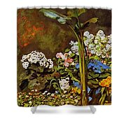 Arum And Conservatory Plants 1864 Shower Curtain