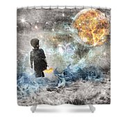 As Above, So Below Shower Curtain