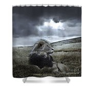 As Darkness Fades Shower Curtain