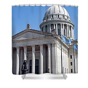 As Long As The Waters Flow Shower Curtain