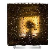 As Seen Through A Shower Door, A Girl Shower Curtain