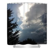 As The Clouds Move Across The Sky Shower Curtain