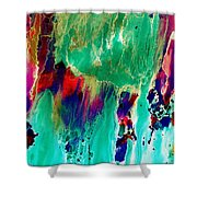 As The Colors Blend.. Shower Curtain