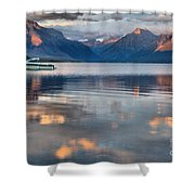 As The Day Ends At West Glacier Shower Curtain