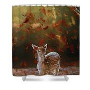 As The Leaves Fall - Painting Shower Curtain