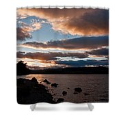 As The Sun Sets Over Loch Rannoch Shower Curtain