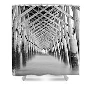 As The Water Fades Grayscale Shower Curtain