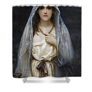 As Time Goes Shower Curtain