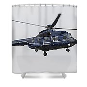 As332 Super Puma Helicopter Shower Curtain