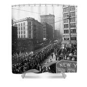 Asahel Curtis, 1874-1941, Draft Parade, Seattle Shower Curtain
