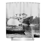 Asahel Curtis, 1874-1941, Launching Of The Minnie A. Cain Shower Curtain