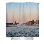 Asbury Park Boardwalk From The Beach Shower Curtain