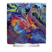 Ascetic Combustion Shower Curtain