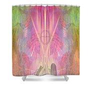 Asgaya Gigagei-redmanwoman-cherokee Shower Curtain