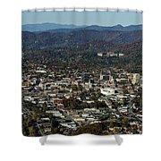 Asheville, City, Downtown, Nc, North Carolina, Mountains, Mountains, Real Estate, Blue Ridge Mountai Shower Curtain