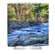 Asheville Stream Shower Curtain