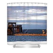 Ashland Ore Dock At Sunset Shower Curtain
