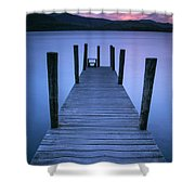 Ashness Jetty, Derwentwater, England Shower Curtain