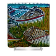 Ashore For Good Shower Curtain