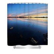 Ashurst Lake Sunrise Shower Curtain
