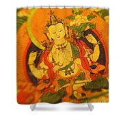 Asian Art Textile Shower Curtain