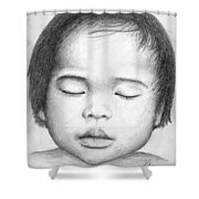 Asian Baby Shower Curtain