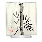Asian Bamboo Shower Curtain