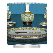 Asian Dining And Vases Shower Curtain