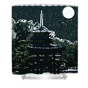 Asian Moon Shower Curtain