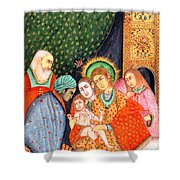 Asian Nativity Shower Curtain