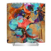 Asian Orchid Abstract Shower Curtain